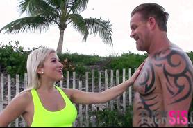 Спортсменка ебется с татуированным парнем